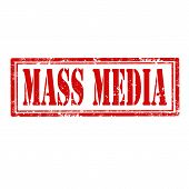 image of mass media  - Grunge rubber stamp with text Mass Media - JPG