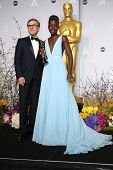 LOS ANGELES - MAR 2:: Christoph Waltz, Lupita Nyong'o  in the press room at the 86th Annual Academy