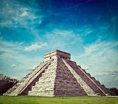 picture of mayan  - Vintage retro hipster style travel image of travel Mexico background  - JPG