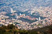 stock photo of overpopulation  - Town Tiruvannamalai with Arulmigu Arunachaleswarar Temple - JPG