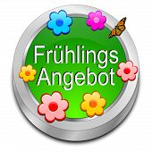 Spring sale button - in german