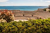 A View Of The Roman Amphitheater In Tarragona, Spain