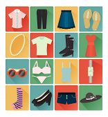 picture of lady boots  - flat icons lady clothes colorful set 16 - JPG