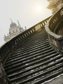 pic of winter palace  - Stairway of The Sanssouci Palace in winter - JPG
