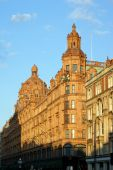 foto of knightsbridge  - World famous Harrods Department Store in London - JPG