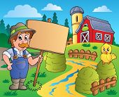 Farmer theme image 6 - eps10 vector illustration.