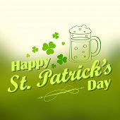 illustration of Saint Patrick's Day background