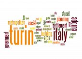 stock photo of turin  - Turin word cloud image with hi - JPG