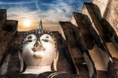 stock photo of chums  - Ancient architecture of Buddhist temples in Sukhothai Historical Park - JPG