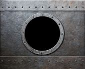 picture of ironclad  - steam punk submarine or military ship window - JPG