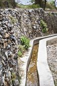 stock photo of jabal  - Image of water delivery system on Saiq Plateau in Oman - JPG