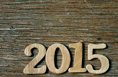 picture of zero  - wooden numbers forming 2015 - JPG