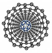 image of graphene  - crystal lattice 3d model of a crystal lattice - JPG
