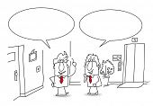 image of politeness  - discussion at the office - JPG