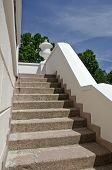 stock photo of manor  - old staircase in historical europe manor house - JPG