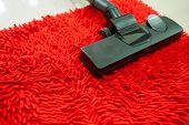 foto of suction  - Vacuum cleaner service on Red Carpet feather