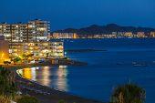 stock photo of manga  - La Manga del Mar Menor at Night, Murcia ** Note: Soft Focus at 100%, best at smaller sizes - JPG