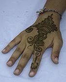 picture of mehndi  - Mehndi design on hand - JPG