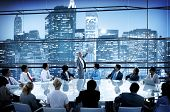 image of leader  - Business People Conference Meeting Boardroom Leader Interaction Concept - JPG