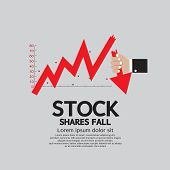 picture of stock market crash  - Stock Shares Fall Down Vector Illustration Conceptual - JPG