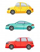 foto of motor-bus  - Cute colorful cars - JPG