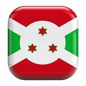 pic of burundi  - Burundi flag square icon image isolated on white - JPG