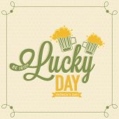 image of saint patrick  - Irish Lucky Day poster - JPG