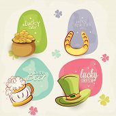 picture of shamrock  - Colorful sticker - JPG