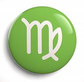 pic of virgo  - Virgo zodiac astrological symbol icon on white - JPG