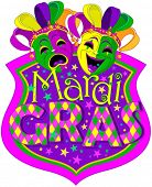 picture of comedy  - Mardi Gras Comedy and Tragedy Masks design - JPG