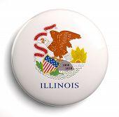 pic of illinois  - Illinois state flag isolated icon on white - JPG