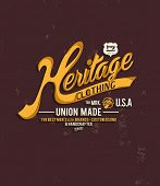 picture of apparel  - vintage typography for apparel 5 - JPG
