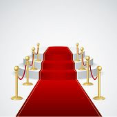 picture of exposition  - Stage podium with red carpet for award ceremony - JPG
