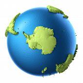 image of south-pole  - Globe 3d isolated on white background - JPG