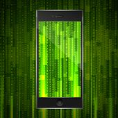 foto of smart grid  - matrix smart phone - JPG