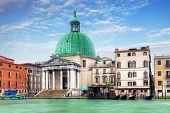 stock photo of piccolo  - Church San Simeone Piccolo on embankment of Canal Grande in Venice - JPG