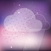 foto of rain cloud  - Cloud rain purple abstract vector background eps10 - JPG