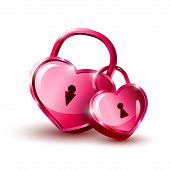 picture of backround  - Red Hearts on white backround - JPG