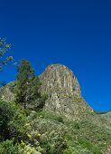 stock photo of municipal  - Gran Canaria Valsequillo municipality view towards volcanic plug Roque del Pino - JPG