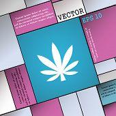stock photo of cannabis  - Cannabis leaf icon sign - JPG