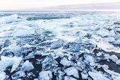 pic of iceberg  - Iceberg beach at Vatnajokull Glacier Jokulsarlon Iceland sunrise - JPG