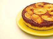foto of upside  - close up of orange upside down cake - JPG