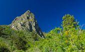 stock photo of municipal  - Inland Gran Canaria Valsequillo municipality view towards Roque Grande from Tenteniguada - JPG