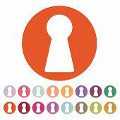 stock photo of keyholes  - The keyhole icon - JPG