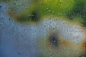 image of glass water  - Glass with natural water drops - JPG