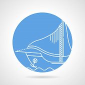 Постер, плакат: Sail boat round vector icon
