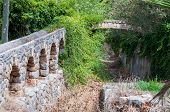 pic of aqueduct  - aqueduct water bridge located on the island of Mallorca Spain - JPG