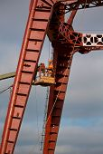 foto of millwright  - Builders are working at high altitude - JPG