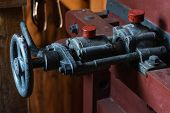 pic of water-mill  - Valve of the old metal thread - JPG
