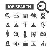 Постер, плакат: job search icons job search logo cv icons vector cv flat illustration concept cv infographics el